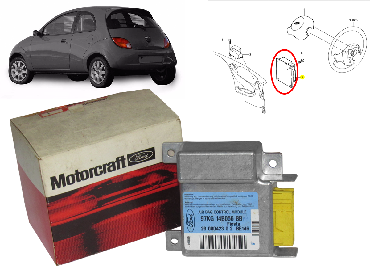 Modulo do Air Bag ( Ford Ka 97 a 2001 )