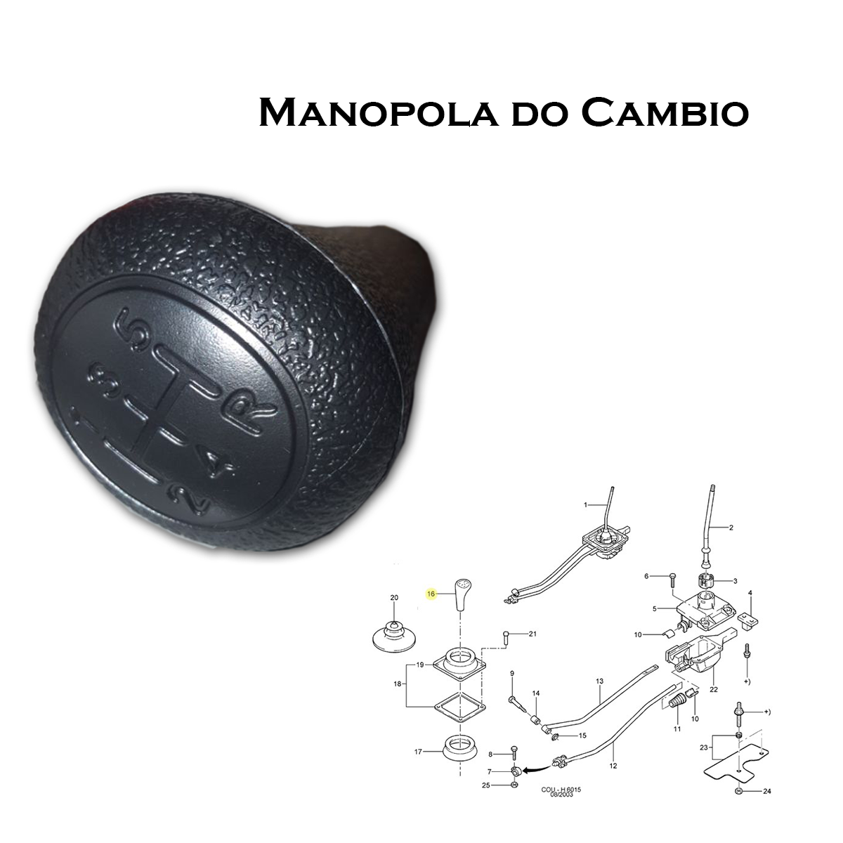 Manopola do Cambio - (courier 1998 a 2013) (escort 1997 a 20